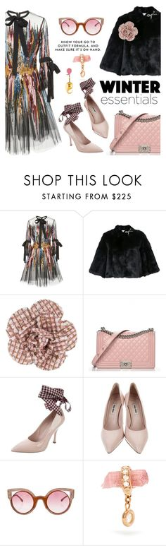 """That bit of sparkle"" by pensivepeacock ❤ liked on Polyvore featuring Elie Saab, RED Valentino, Chanel, Miu Miu, Fendi, Jacquie Aiche and LeiVanKash"