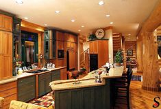 Kitchens - Log Homes and Timber Homes