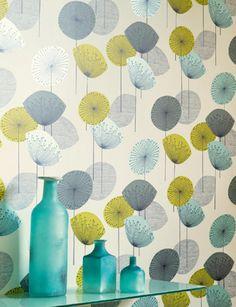 Dandelion Clocks wallpaper from Sanderson