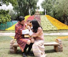 King and Queen and little Prince of Bhutan