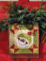 Warm your heart and those of your visitors with this happy snowman appliqued to a traditional patchwork block Christmas Sewing, Christmas Projects, Holiday Crafts, Christmas Quilting, Christmas Blocks, Small Quilts, Mini Quilts, Quilting Projects, Quilting Designs