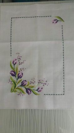 This Pin was discovered by gül Wedding Cross Stitch, Cross Stitch Rose, Cross Stitch Borders, Cross Stitch Flowers, Cross Stitch Designs, Cross Stitching, Cross Stitch Embroidery, Embroidery Patterns, Hand Embroidery