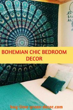 Bohemian chic bedroom decor style