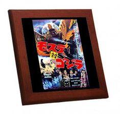 メルカリ商品: 『 モスラ対ゴジラ 』のポスターの木枠付きフォトタイル(映画ポスターシリーズ) #メルカリ