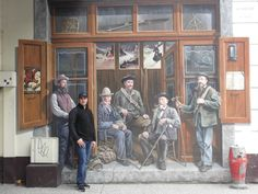 The Chamonix guides by Patrick Commecy & A. Realistic Paintings, Street Art Graffiti, Gallery Wall, France, Make It Yourself, Scream, Murals, Artwork, Fresco