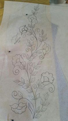 vintage crewel embroidery patternsvintage transfer patterns for embroidery Border Embroidery Designs, Crewel Embroidery Kits, Floral Embroidery Patterns, Hand Work Embroidery, Machine Embroidery Patterns, Vintage Embroidery, Ribbon Embroidery, Embroidery Needles, Fabric Painting