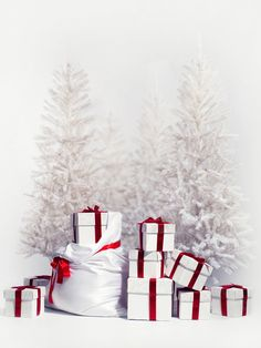 >> Click to Buy << White Christmas Trees Boxs photo backdrop Vinyl cloth Computer printed christmas Backgrounds for sale #Affiliate