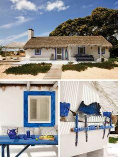 beach house rental in Portugal Cottage Porch, Beach Cottage Decor, Casa Patio, Beach Shack, Bungalows, Coastal Homes, Beach Cottages, Portuguese, My Dream Home