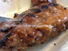 Y'all know that I have a bunch of rib lovers in our house. When we splurge for ribs we have a go-to recipe, Sweet & Spicy Double Cooked ri. Pork Ham, Maple Glaze, Food Tasting, Ham Recipes, Recipe Link, Sweet And Spicy, Meals For The Week, Ribs, Yummy Food