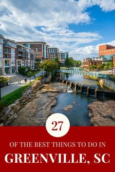 Beautiful Greenville, SC is an family getaway, with scenic adventures and city amenities that will leave you awestruck. Enjoy these 27 can't-miss ideas. South Carolina Vacation, Greenville South Carolina, Seneca South Carolina, Weekend Trips, Weekend Getaways, Day Trips, Vacation Destinations, Vacation Spots, Vacation Ideas