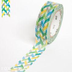 MT Washi Tape  Slash Green by mt masking tape by foxandstar