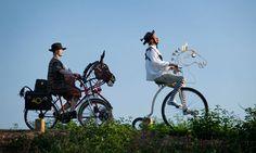 Don Quixote by Bicycle - on the Tarka Trail in North Devon High Fantasy, Medieval Fantasy, Man Of La Mancha, Dom Quixote, Horse Costumes, Mists Of Avalon, North Devon, Cycle Chic, The Right Stuff
