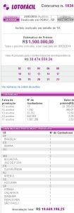 Lotofácil 1034 - resultado do sorteio de hoje, 24/03/2014