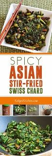 Spicy Asian Stir-Fried Swiss Chard found on KalynsKitchen.com.