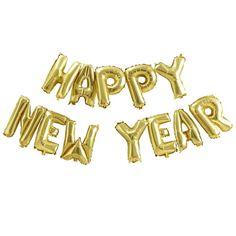 Happy New Year Gouden Folieballon