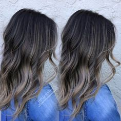 Image result for balayage dark brown hair