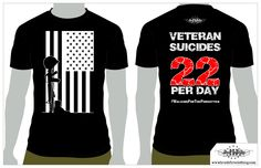 This shirt was created to help bring awareness to the problem of 22 veterans a…