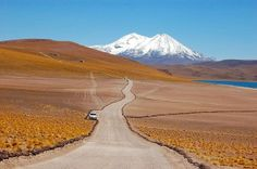Entrance to Miscanti and Miñiques lagoons, San Pedro de Atacama, Chile.