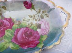 Royal Vienna Handpainted Porcelain Dish of by EauPleineVintage,