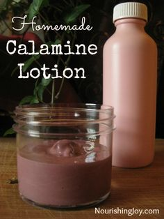 Homemade Calamine Lotion from NourishingJoy.com - it's even pink like the store-bought stuff!