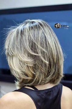 Cute Layered Bob Haircuts for Women Medium Hair Styles, Short Hair Styles, Layered Bob Haircuts, Trendy Haircuts, Silver Grey Hair, Gray Hair, Good Hair Day, Hair Highlights, Bob Hairstyles