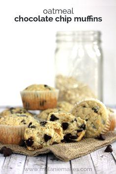 Oatmeal Chocolate Chip Muffins | Melanie Makes