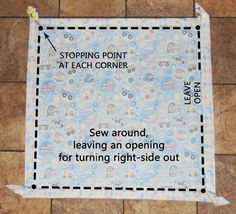 Self-binding Baby Quilt // Sewing Diagram and Tutorial Baby Sewing Projects, Sewing For Kids, Sewing Hacks, Sewing Crafts, Sewing Tips, Sewing Ideas, Quilting Tips, Quilting Tutorials, Quilting Projects