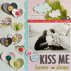 ... just Laura: Bella Blvd: Step-By-Step Monthly Project Sheet - Kiss Me. Includes project direction sheet.