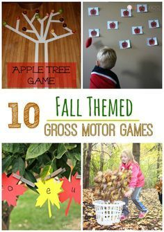 These fall themed games are great for any classroom or any preschool gross motor play. Use these games in physical thearpy, occupational therapy, or speech. These are great for physical education as well! - Life and hac Fall Preschool Activities, Gross Motor Activities, Movement Activities, Gross Motor Skills, Infant Activities, Physical Education Games, Physical Development, Physical Activities, Therapy Activities