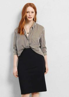 Looks de verano con falda para gorditas: Fotos de los modelos - Falda tubo con…