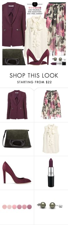"""""""Off to Work and Feeling Good!"""" by brendariley-1 ❤ liked on Polyvore featuring Veronica Beard, Blugirl, Lemaire, H&M, Sergio Rossi and Deborah Lippmann"""