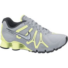 Nike Shox Turbo+ 13 Women's Running Shoes - Wolf Grey, 6 ($96) ❤ liked on Polyvore