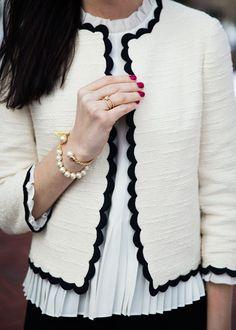 ksny scallop tweed jacket