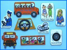 The Wheels on the Bus Felt / Flannel Board Set