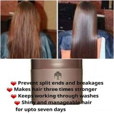 Renu Hair Mask Makes hair three times stronger & more manageable Comment to order or for more Information