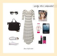 #set #outfit #clothes #sporty #stripes #converse #style #stylish #pink #independent    /by Taki Trik