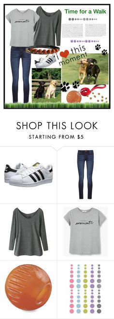 """Time for a walk"" by zenstore ❤ liked on Polyvore featuring adidas Originals, DL1961 Premium Denim and MANGO"