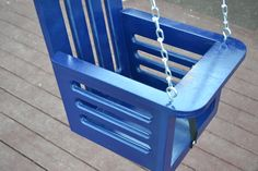 Toddler swing - porch swing - baby swing - childrens furniture - wood swing - outdoor swing. $75.00, via Etsy.