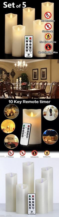 Candles 46782: X5 Moving Wick Flameless Candle + Timer Remote Battery Operated Flickering Led -> BUY IT NOW ONLY: $34.21 on eBay!
