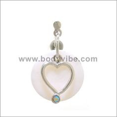 Mother Of Pearl, 316L, Heart, Belly Rings #BodyVibe #heart