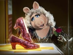 Miss Piggy: Soon to be on display next to Dorothy's ruby slippers in the Smithsonian American History Museum! (She was one of 20 Henson puppets recently donated to the museum!)