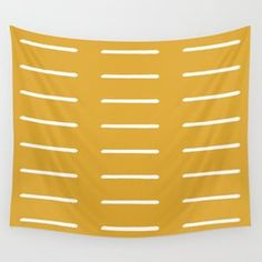 organic / yellow Wall Tapestry