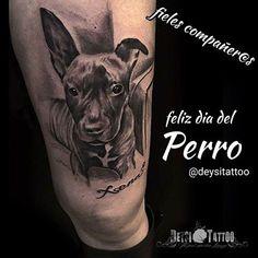 #tattoo by Deysi. Infografía para felicitar el día del perro, es@s cariñoso@s y fieles compañer@s. Los ojos del animal hablan por si mismos, expresando sentimientos de ternura. #santcugat #barcelona #deysitattoo #tatuatgegos #dogtattoo #tatuajeperro