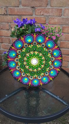 Peacock dot art mandala on plate only one of this available.#mandala#mandaladotart#mandalaonplate#tabledecor#wallhanging#giftforher