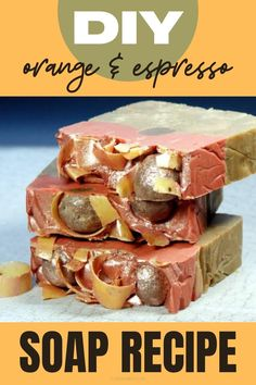 Love Terry's orange chocolates? Enjoy them early this year with this yummy orange & espresso soap recipe! Formulated with combination of ingredients that create a rich and creamy lather, this homemade soap recipe also contains hydrating coconut milk. It's then scented with the luscious seasonal scents of orange and espresso reminiscent of rich chocolate and a hint of orange similar to those delicious Terry's chocolate oranges you can buy during the Christmas season. Homemade holiday soap recipe.