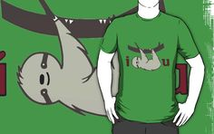 """""""I Sloth U"""" T-Shirts & Hoodies by Stacey Roman   Redbubble Also available in other cool forms like: prints, framed and matted print and stickers!  valentines day, olive, cute, sweet, love, punny, heart, sloths"""