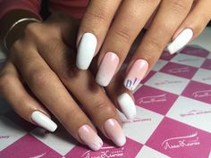 cool 25 Ideas on Pink and White Nails - Spring Inspiration for You