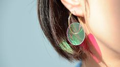 JIRO KAMATA | BI earrings - dichroic mirror, 18k gold