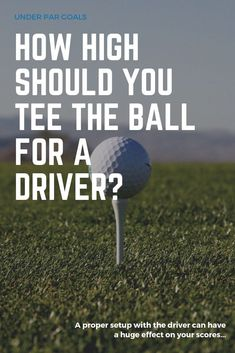 Setting up properly with the driver is key to hitting longer drives, including tee height. Try these tips for establishing a effective and repeatable setup with the driver. Ohio State Football, American Football, College Football, Oklahoma Sooners, European Football, Golf Drivers, Golf Driver Tips, Volleyball Tips, Golf Putting Tips