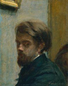 Henri Fantin-Latour (French, 1836-1904), Self-Portrait, 1860, oil on canvas, 31.4 x 25.4 cm. Tate, London